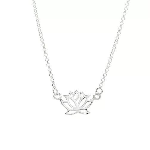 Lily Charmed Silver Lotus Flower Necklace - Product number 6250637