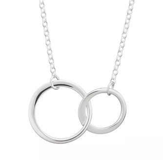 Lily Charmed Silver Linked Circles Pendant - Product number 6250645