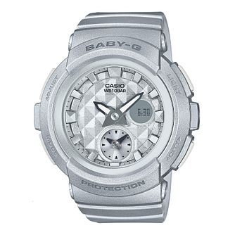 Casio Baby-G Ladies' Silver Resin Strap Watch - Product number 6251137
