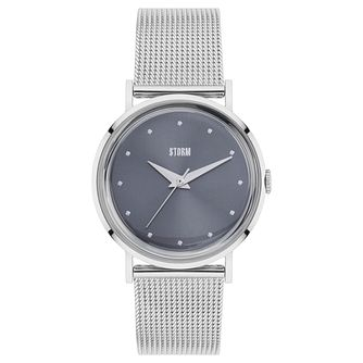 STORM Ladies' Stainless Steel Grey Dial Mesh Bracelet Watch - Product number 6251390