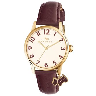Radley Ladies' Cream Dial Purple Leather Strap Watch - Product number 6251757