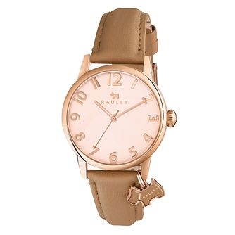 Radley Ladies' Rose Dial Nude Leather Strap Watch - Product number 6251765