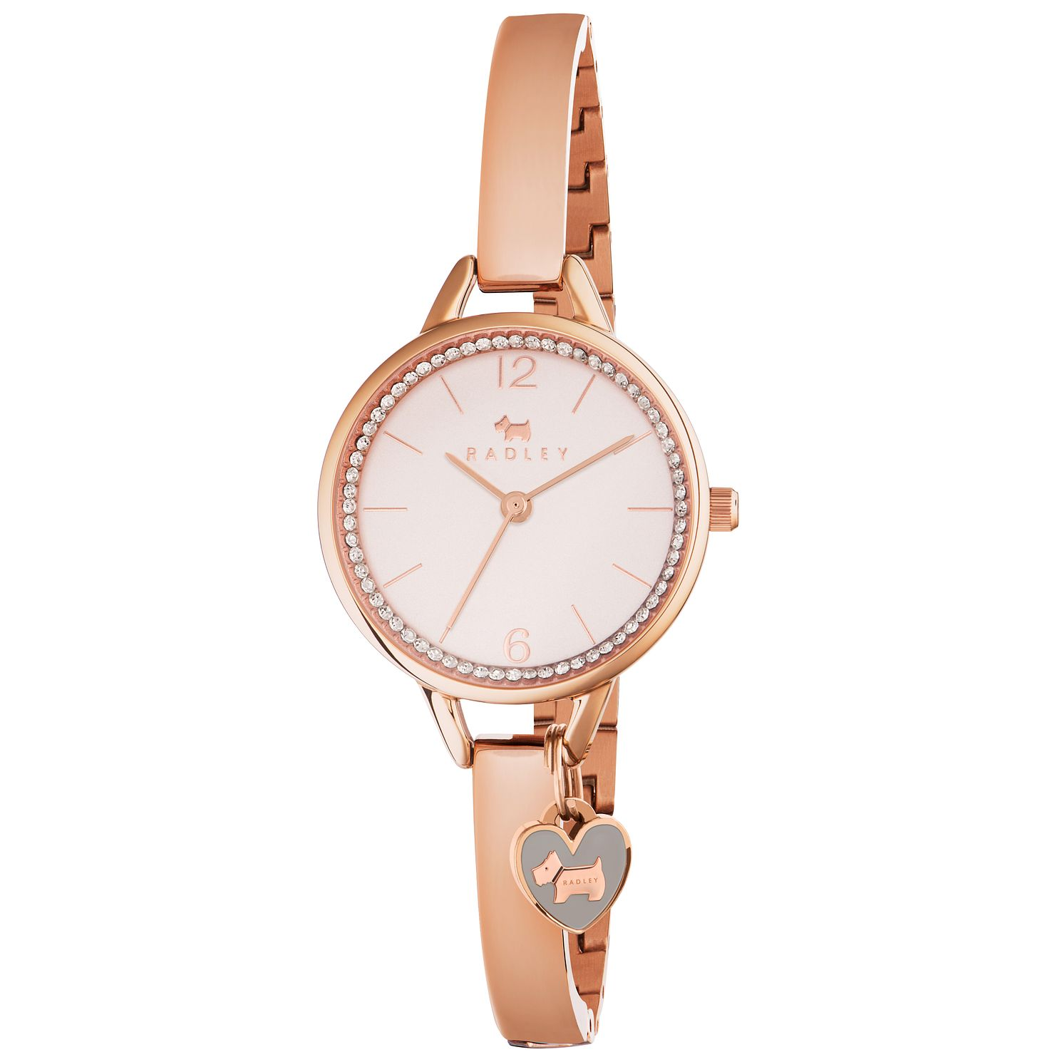 Radley Ladies' Rose Gold-Plated Semi Bangle Watch - Product number 6251897