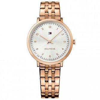 Tommy Hilfiger Silver Dial Rose Gold-Plated Bracelet Watch - Product number 6251978