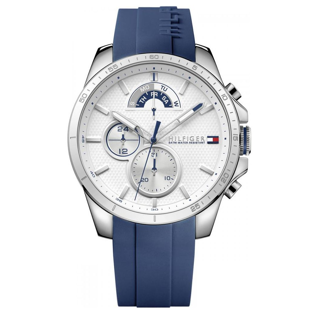 Tommy Hilfiger Men's Blue Silicone Strap Watch - Product number 6252109