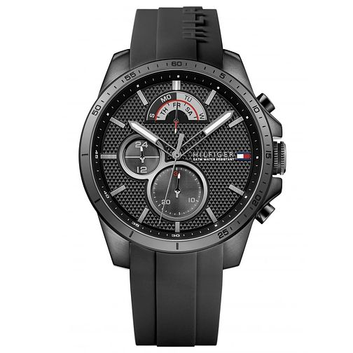 Tommy Hilfiger Men's Black Silicone Strap Watch - Product number 6252117