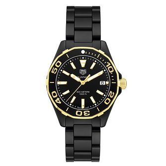 TAG Heuer Aquaracer Ladies' Black Ceramic Bracelet Watch - Product number 6252230