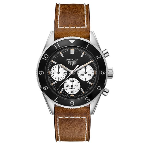 TAG Heuer Autavia Men's Brown Leather Strap Watch - Product number 6252338