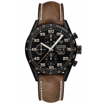 TAG Heuer Carrera Men's Brown Leather Strap Watch - Product number 6252346