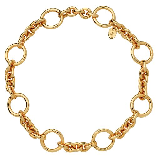 Links of London 18ct Gold Vermeil Charm Carrier Bracelet - Product number 6252699