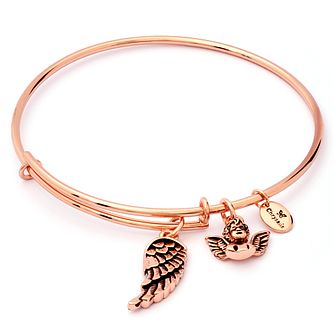 Chrysalis Rose Gold-Plated Guardian Angel Bangle - Product number 6252745