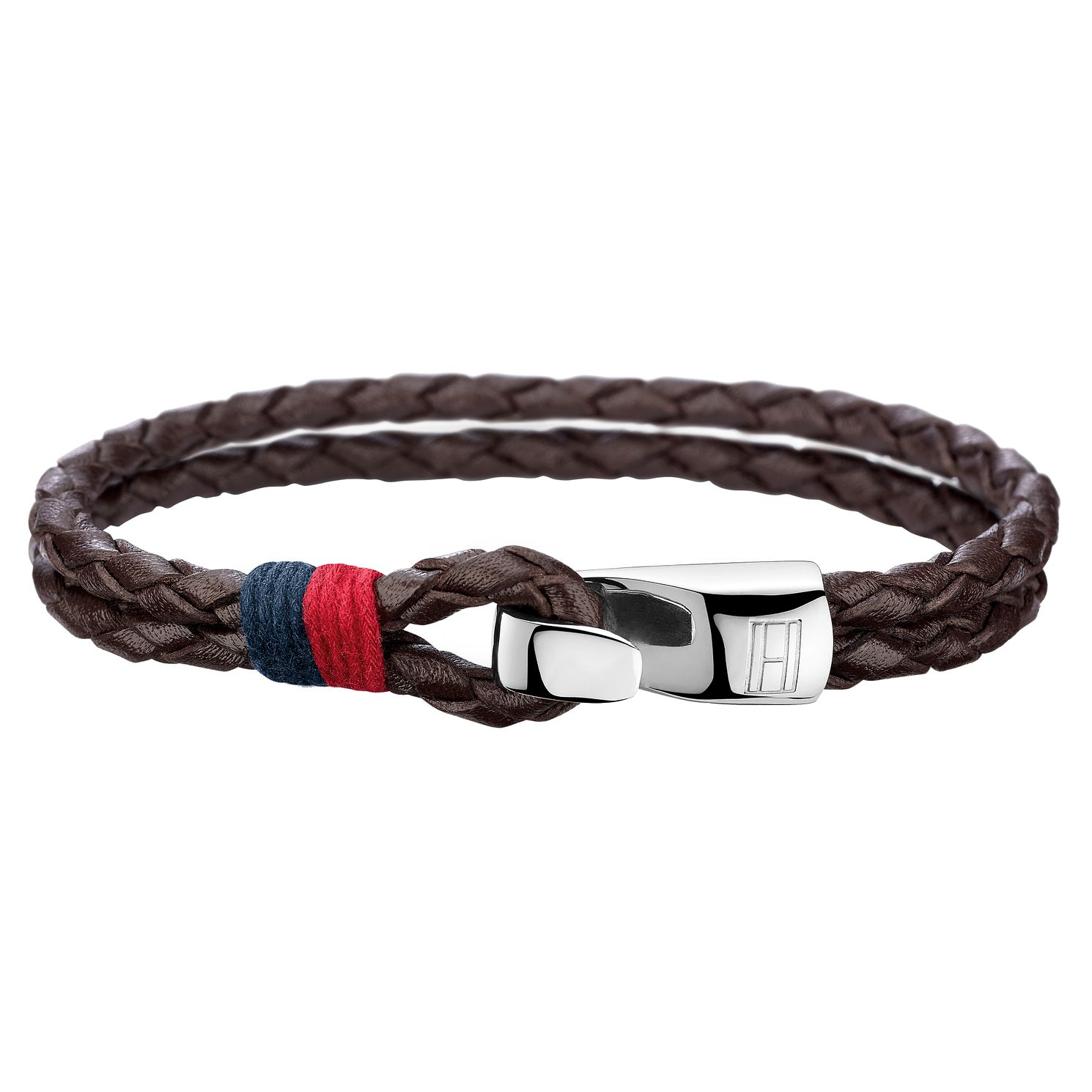 Tommy Hilfiger Men's Brown Double Row Leather Bracelet - Product number 6252966