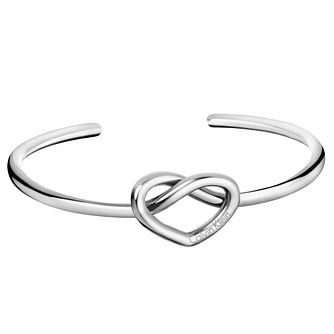 Calvin Klein Charming Stainless Steel Open Bangle - Product number 6253105