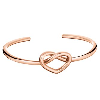 Calvin Klein Charming Rose Gold Tone Open Bangle - Product number 6253113
