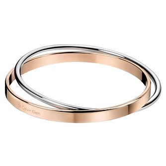 Calvin Klein Coil Stainless Steel & Rose Gold PVD Bangle - Product number 6253121