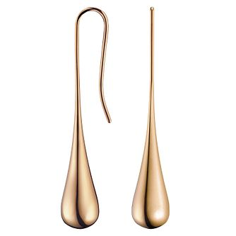 Calvin Klein Ellipse Rose Gold Tone Drop Earrings - Product number 6253385