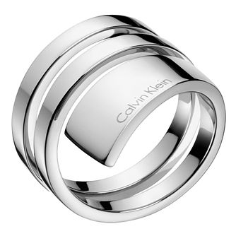 Calvin Klein Beyond Stainless Steel Ring Size 7 - Product number 6253490