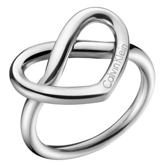 Calvin Klein Charming Stainless Steel Ring Size 7 - Product number 6253717