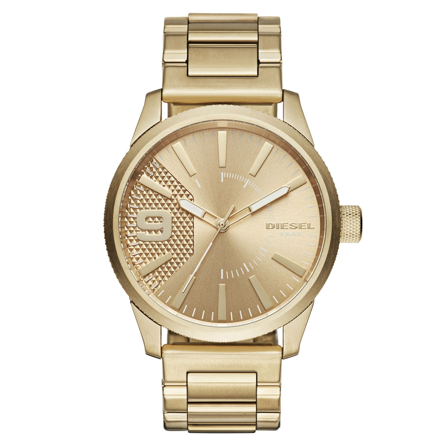Diesel Men's Gold-Plated Stainless Steel Bracelet Watch - Product number 6253849