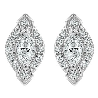 Emmy London 9ct White Gold 0.25ct Total Diamond Earring - Product number 6254772