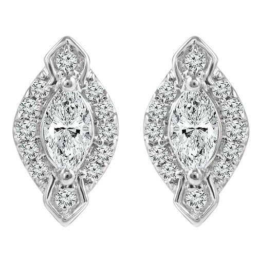 Emmy London 9ct White Gold 1/4ct Diamond Earring - Product number 6254772