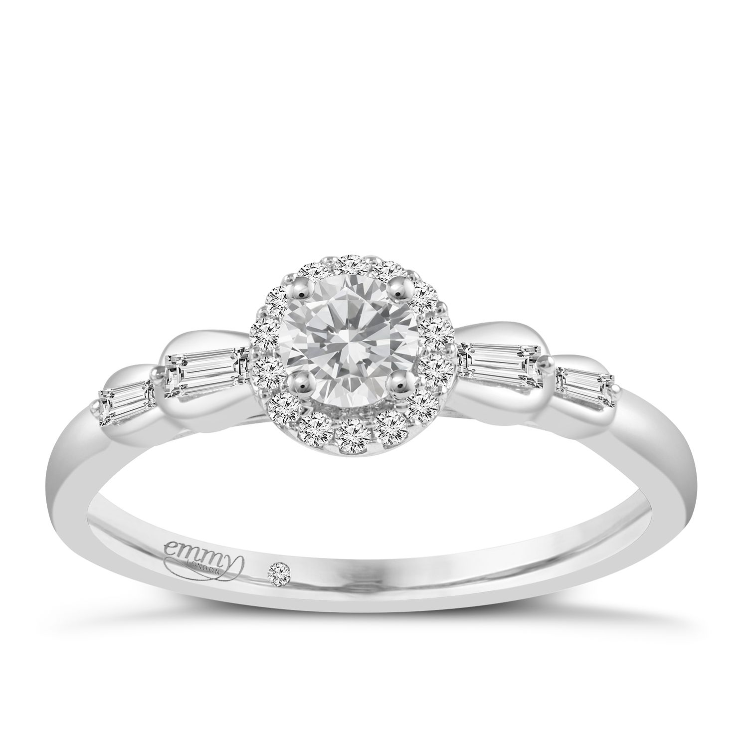 Emmy London 9ct White Gold 1/3 Carat Diamond Ring - Product number 6257062