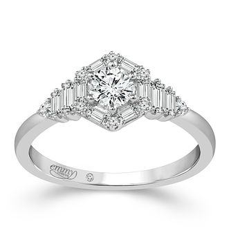 Emmy London Palladium 0.50ct Total Diamond Ring - Product number 6257321