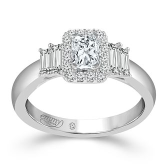 Emmy London 18 Carat White Gold 4/5 Carat Diamond Set Ring - Product number 6258018