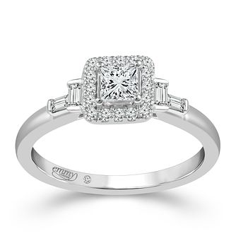 Emmy London Palladium 1/2 Carat Diamond Ring - Product number 6258166