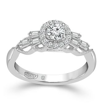 Emmy London 18ct White Gold 1/2ct Diamond Set Ring - Product number 6258948