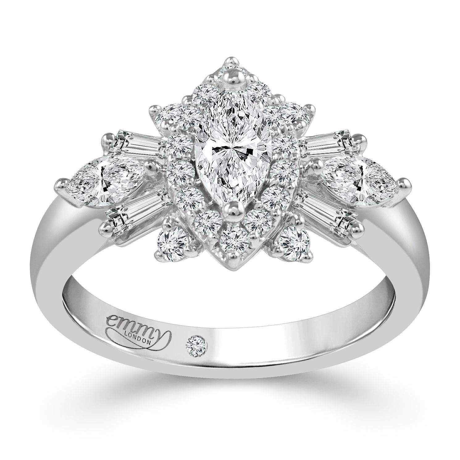 Emmy London Platinum 1 Carat Diamond Ring - Product number 6262597