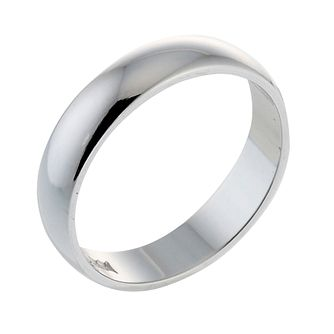 Platinum D shape extra heavy weight 3mm ring - Product number 6269214