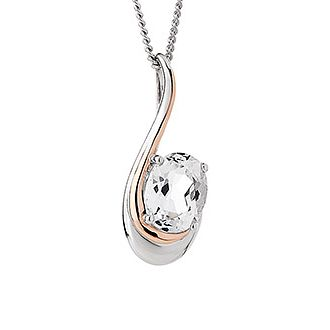 Clogau Silver Serenade Clear Stone Pendant - Product number 6289215