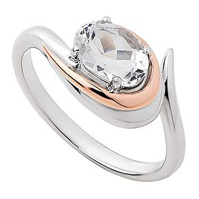 Clogau Silver Serenade Ring with clear stone - Product number 6289223