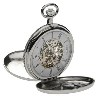 Jean Pierre Men's Skeleton Full Hunter Pocket Watch - Product number 6294634