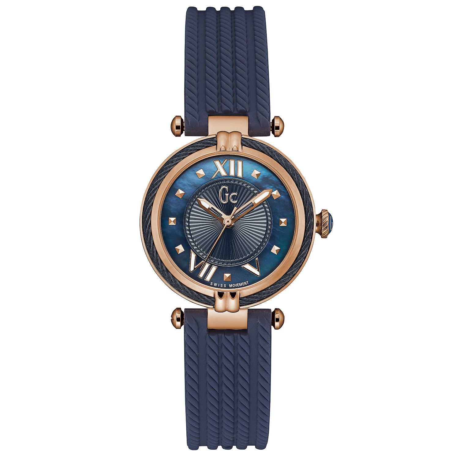 Gc Cablechic Ladies' Rose Gold Plated Strap Watch - Product number 6297161