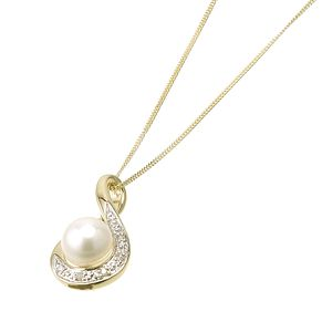 9ct Yellow Gold Cultured Freshwater Pearl Pendant - Product number 6302025