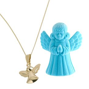 9ct Yellow Gold Angel Pendant In Box - Product number 6302068
