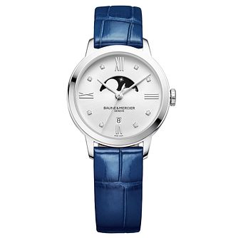 Baume & Mercier Classima Ladies' Blue Leather Strap Watch - Product number 6318991