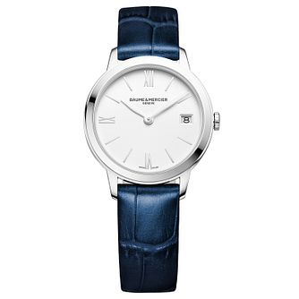 Baume & Mercier My Classima Ladies' Blue Leather Strap Watch - Product number 6319017