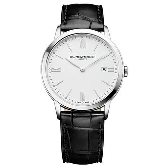 Baume & Mercier My Classima Men's Black Leather Strap Watch - Product number 6319025