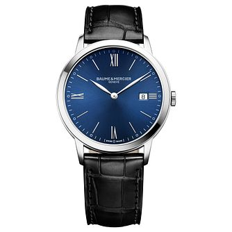 Baume & Mercier My Classima Men's Black Leather Strap Watch - Product number 6319033