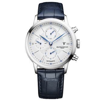 Baume & Mercier Classima Men's Blue Leather Strap Watch - Product number 6319076