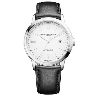 Baume & Mercier Classima Men's Black Leather Strap Watch - Product number 6319084