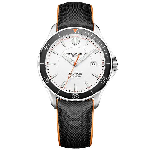 Baume & Mercier Clifton Club Men's Black Leather Strap Watch - Product number 6319106