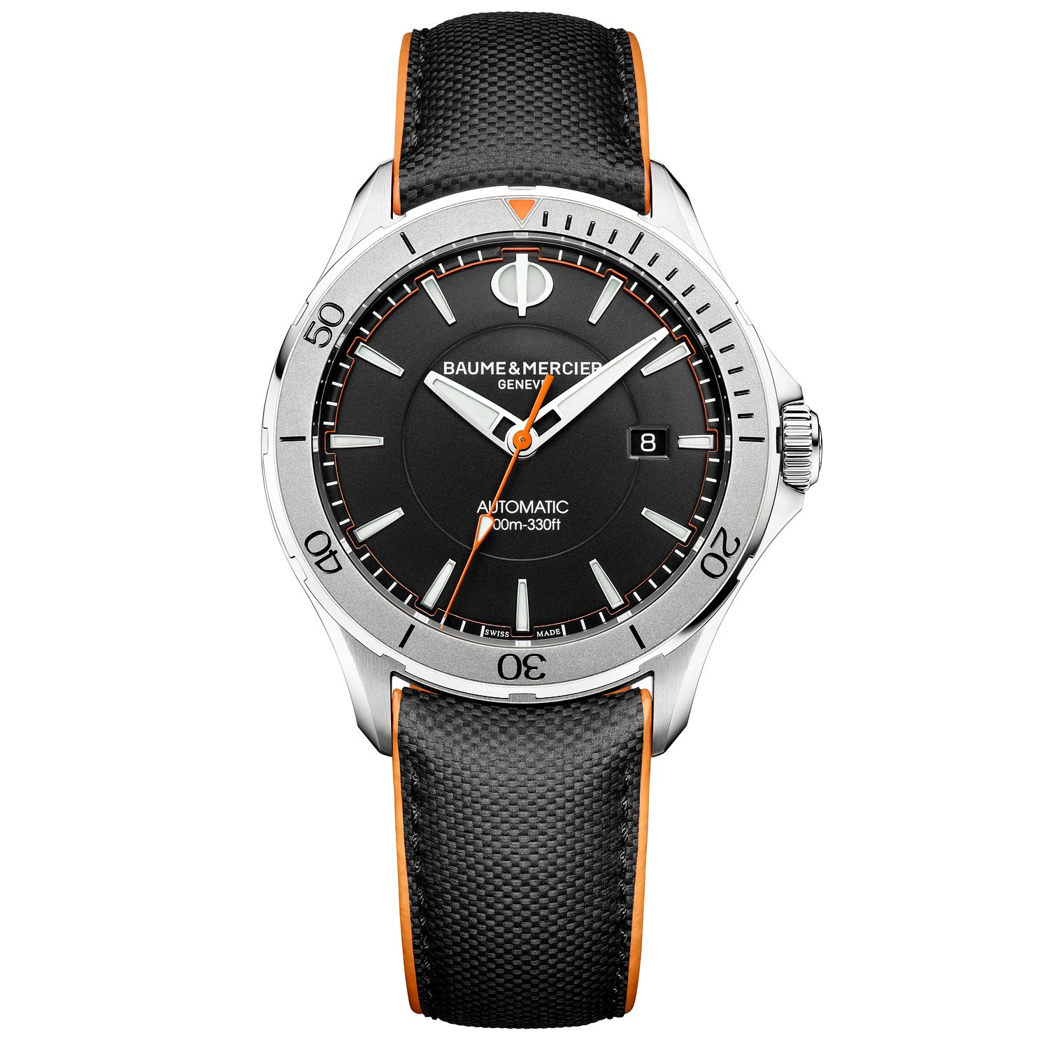 Baume & Mercier Clifton Club Men's Black Leather Strap Watch - Product number 6319114