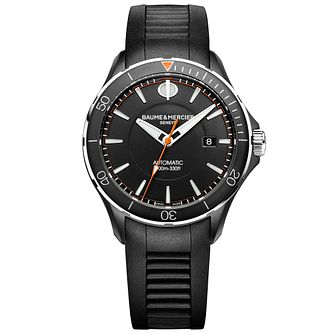 Baume & Mercier Clifton Club Men's Black Rubber Strap Watch - Product number 6319122