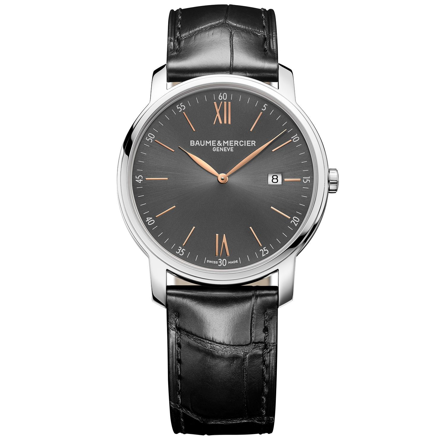 Baume & Mercier My Classima Men's Black Leather Strap Watch - Product number 6319211