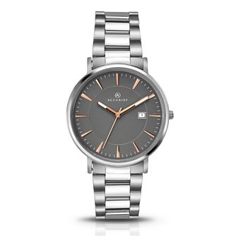 Accurist Men's Titanium Grey Dial Bracelet Watch - Product number 6319750