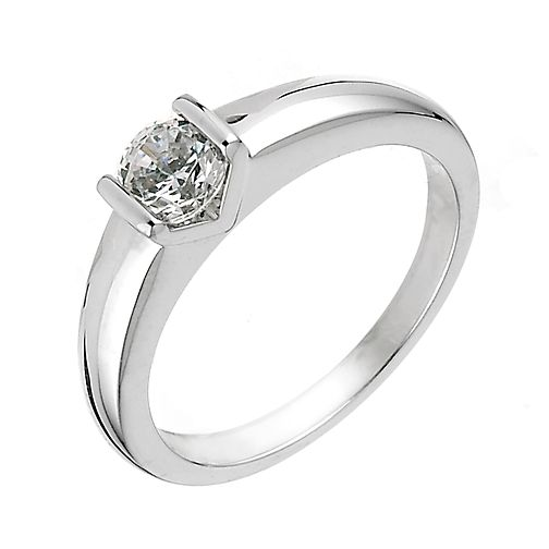 18ct White Gold Half Carat Diamond Solitaire Ring - Product number 6333400